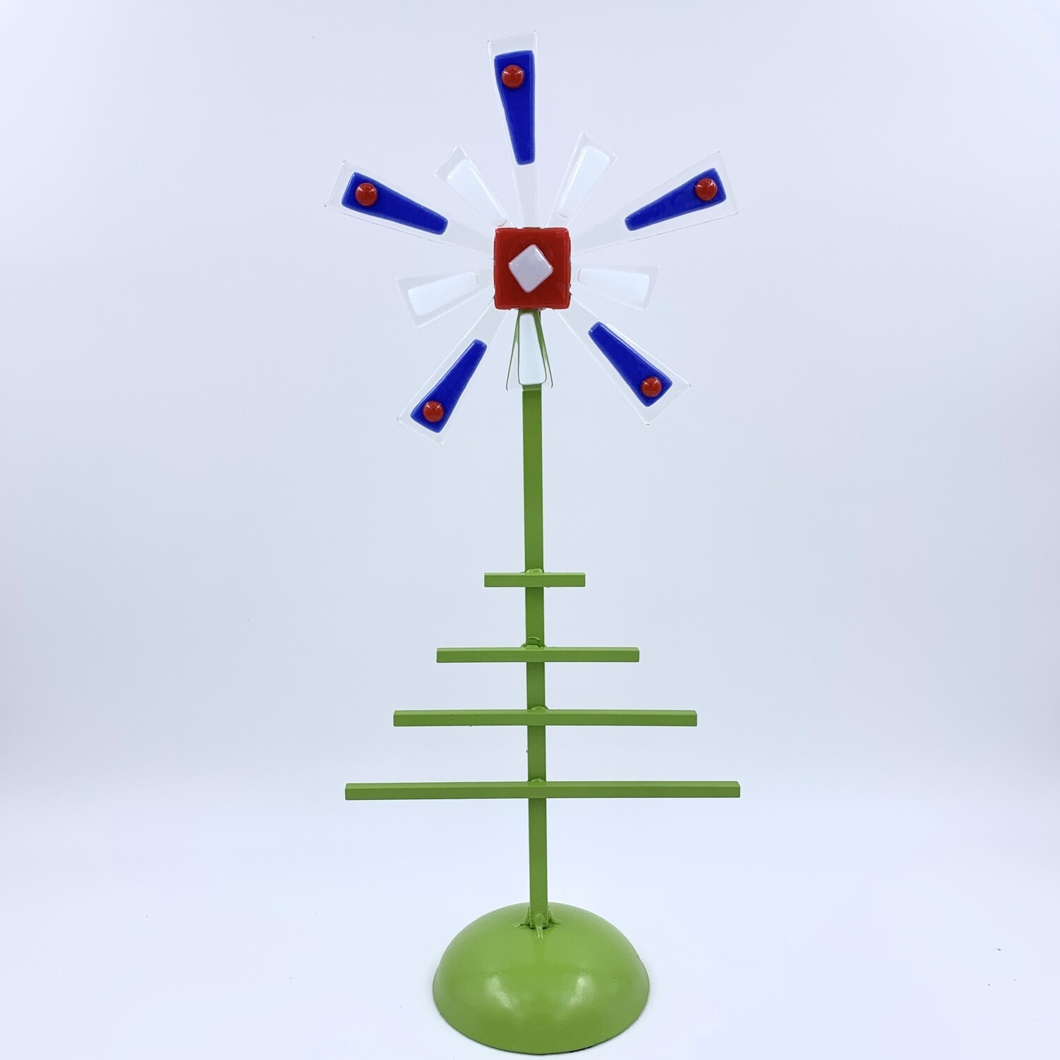 Metal and fused glass Christmas tree