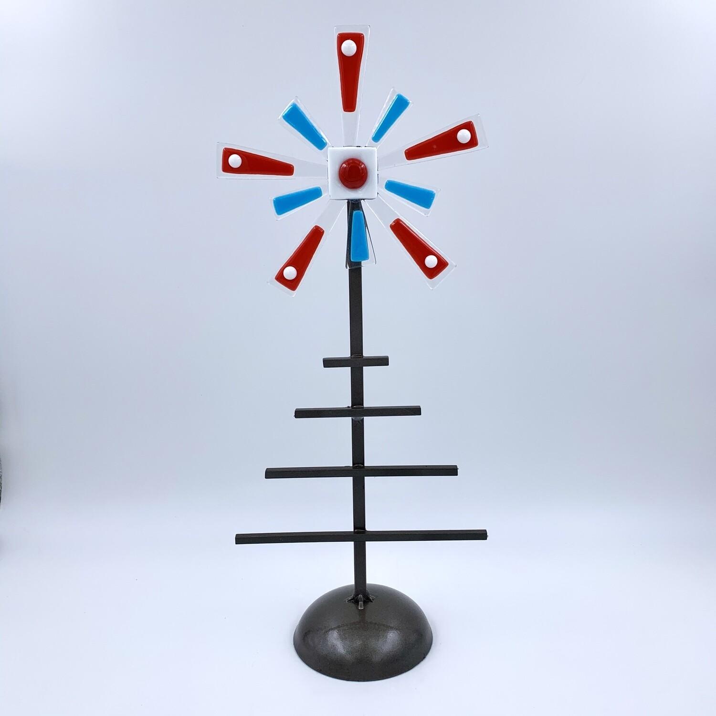 Metal and Fused Glass Christmas Tree