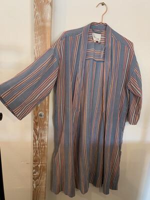 Women Madewell XS Kimono Stripe Blue Orange Pink