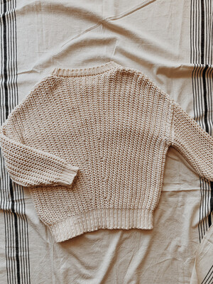Women Babaa NS LS Knit Cream