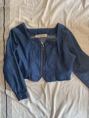 Women Denum Jeans LS Crop 80's