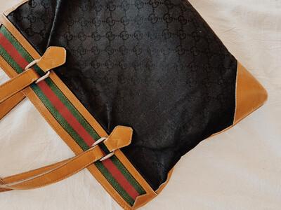 Gucci Messenger Tote Vintage Authentic W Dust Bag