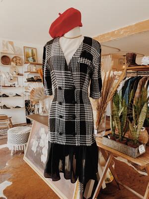 Women Knapp Studio 5 Tunic Dress Vintage Black White