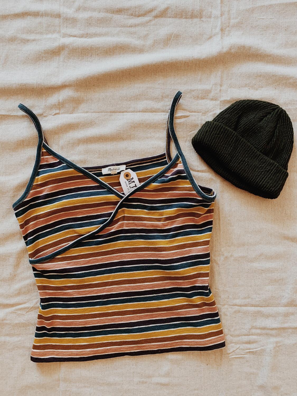 Women Madewell Med Tank Stripe