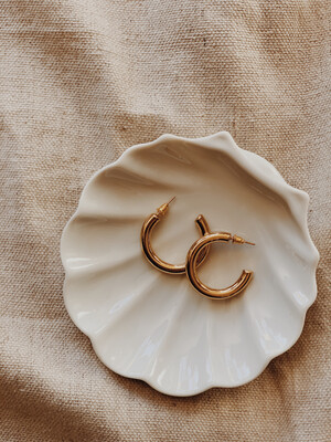 Earrings Large Hoop 14kt Gold Plated