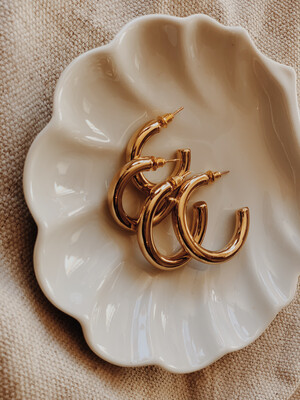 Earrings Small Hoop 14kt Plated Gold