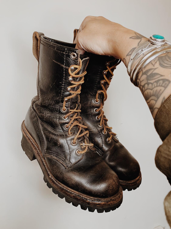 Vibram 6.5 Worker Boot Vintage Steel Toe
