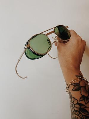 Sunglasses PL2H Green Round