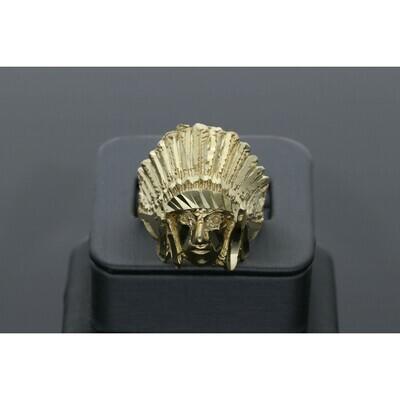 10 Karat Gold Indian American Ring