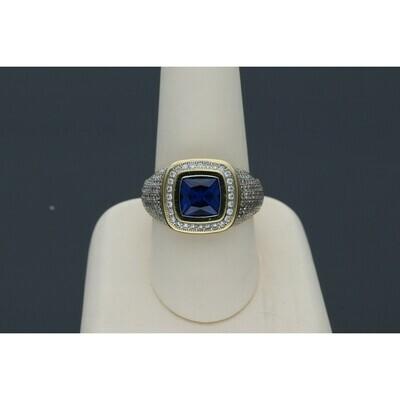 10 karat Gold & Zirconium Blue Ring