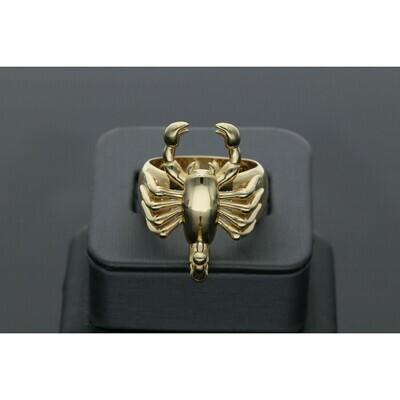 14 karat Gold Scorpion Ring Size 10 W: 7.6g  ~