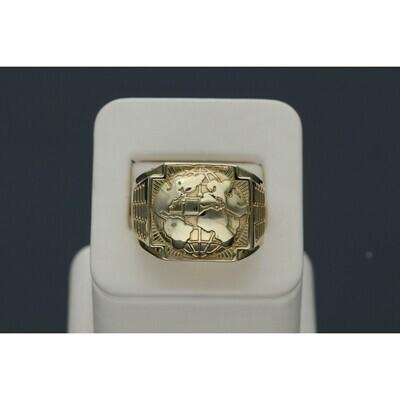 10 Karat Gold World Ring