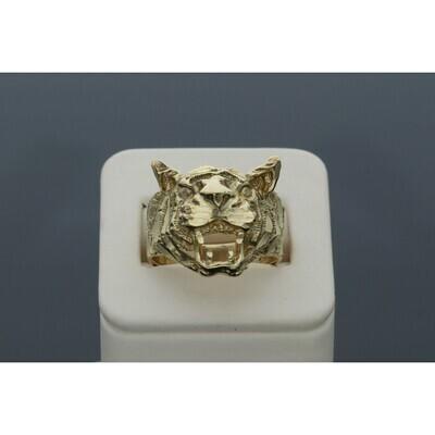 10 karat Gold Diamond Cut Tiger Ring