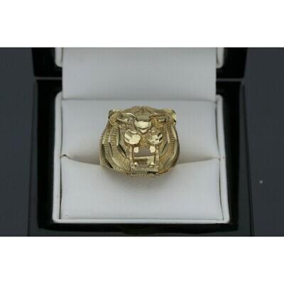 10 karat Gold Tiger Diamond Cut Ring