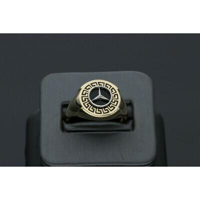 10 karat Gold Mercedes Benz Style Ring