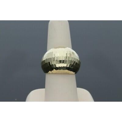 14 Karat Gold Disco Dome Ring