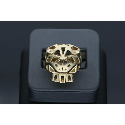 14 Karat Gold & Zirconium Panther Ring