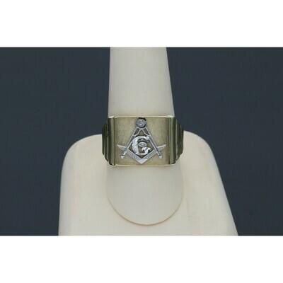 10 karat Gold Two Tone Mason Ring