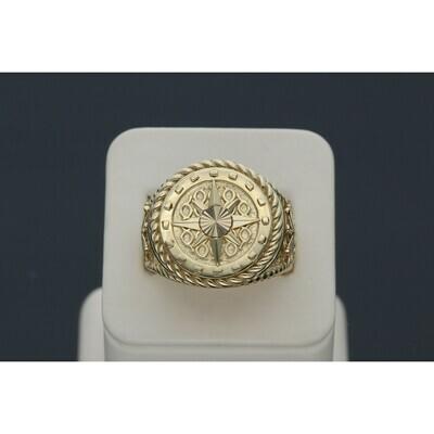 14 karat gold Compass rope ring Z: 10 W: 12.3 ~