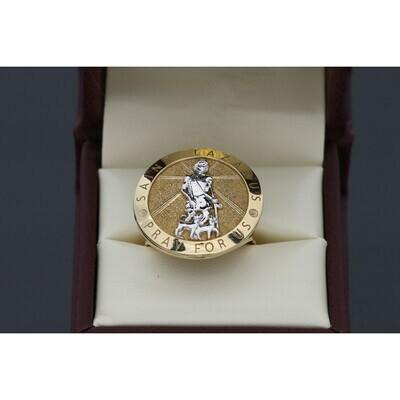 10 karat Gold Two Tone St. Lazarus Ring