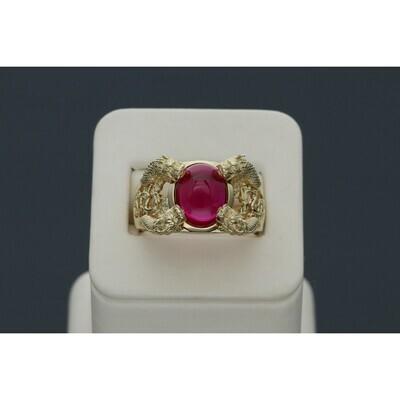 14 Karat Gold & Zirconium Dragon Gem Ring