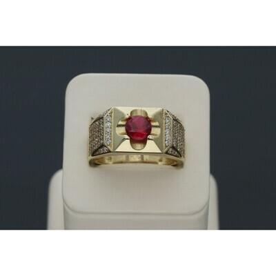10 karat Gold & Zirconium Red Fancy Ring