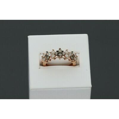 14 karat Gold & Diamond Champagne Ladies Ring