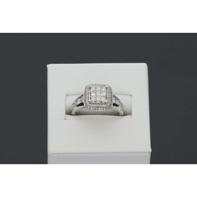 10 Karat White Gold & Diamond Fancy Ring