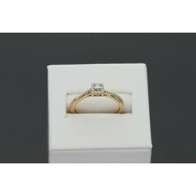 14 Karat Gold 0.25 ctw Diamond Promise Ring Size 7 W: 2.0 ~