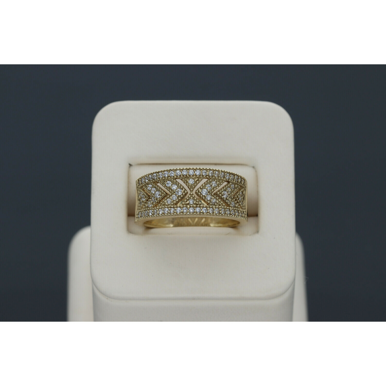 10 karat Gold & Zirconium Spike Band Ring