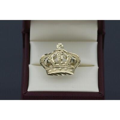 10 karat Gold Crown Ring Size 7 W: 3.2 ~