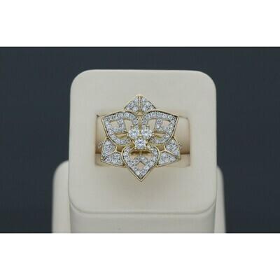 10 karat Gold & Zirconium Flower Ring