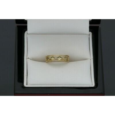 10 Karat Gold Diamonds Shape Toe open Ring W:0.9g ~