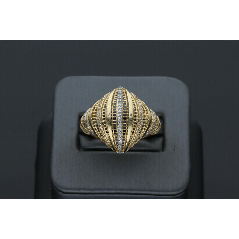 14 Karat Gold & Zirconium Filigrana Ring