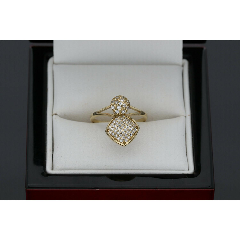10 karat Gold & Zirconium Spin Ring