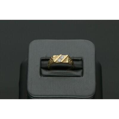 10 Karat Gold & Zirconium Children Ring Nugget Style