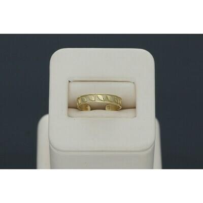 10 Karat Gold Leaf Shape Toe open Ring