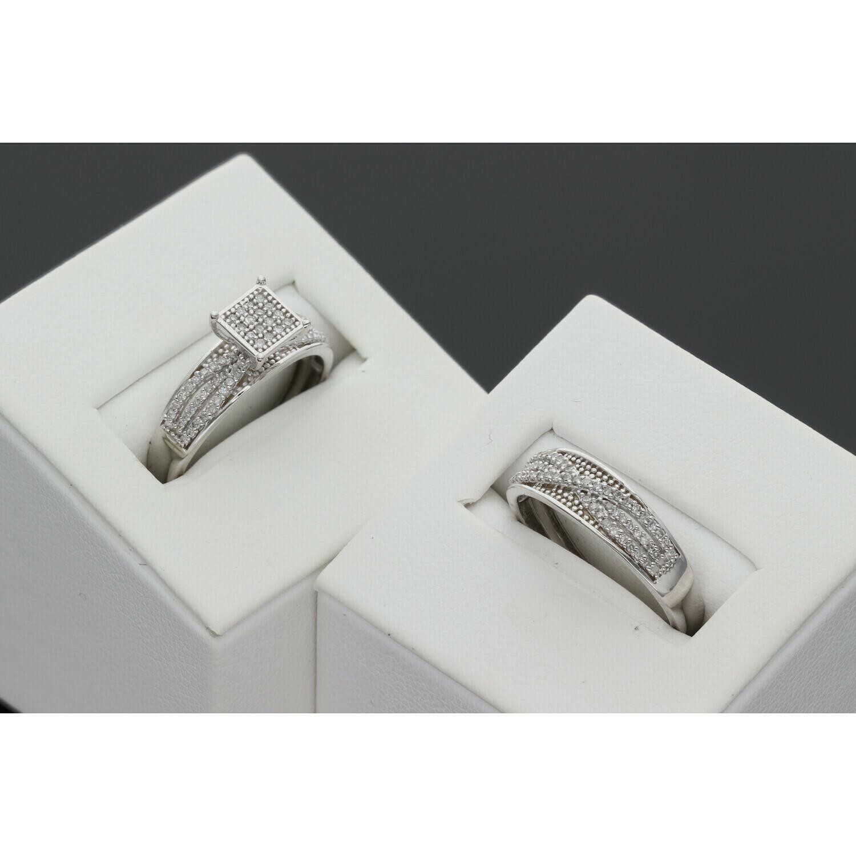 10 karat White Gold Duo Ring & Diamond Ring