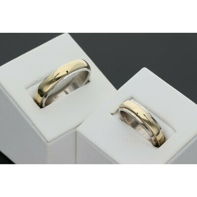 14 Karat Gold Wedding Band Two Tone Ring