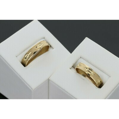 10 karat Gold Wedding Wedding Duo Set Band Ring