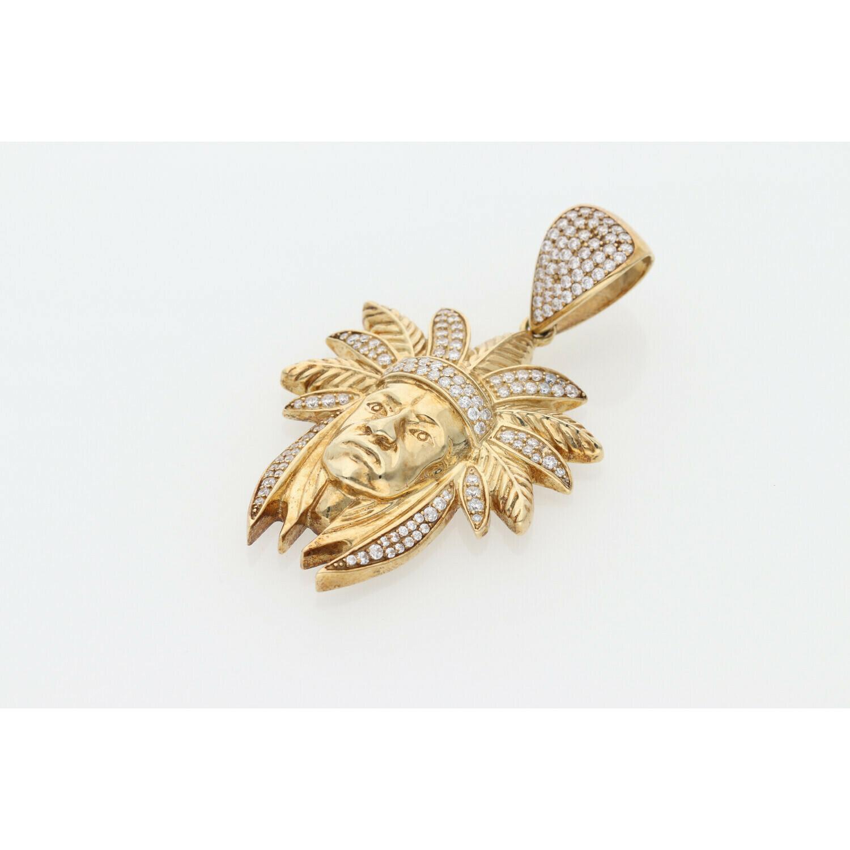 10 karat Gold & Zirconium Indian Charm