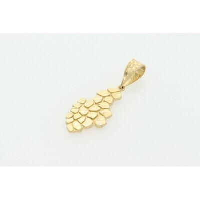 10 Karat Gold Nugget Charm