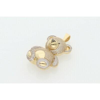 14 karat Gold & Zirconium Teddy Bear Charm