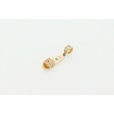 14 Karat Gold & Zirconium Sandal Charm