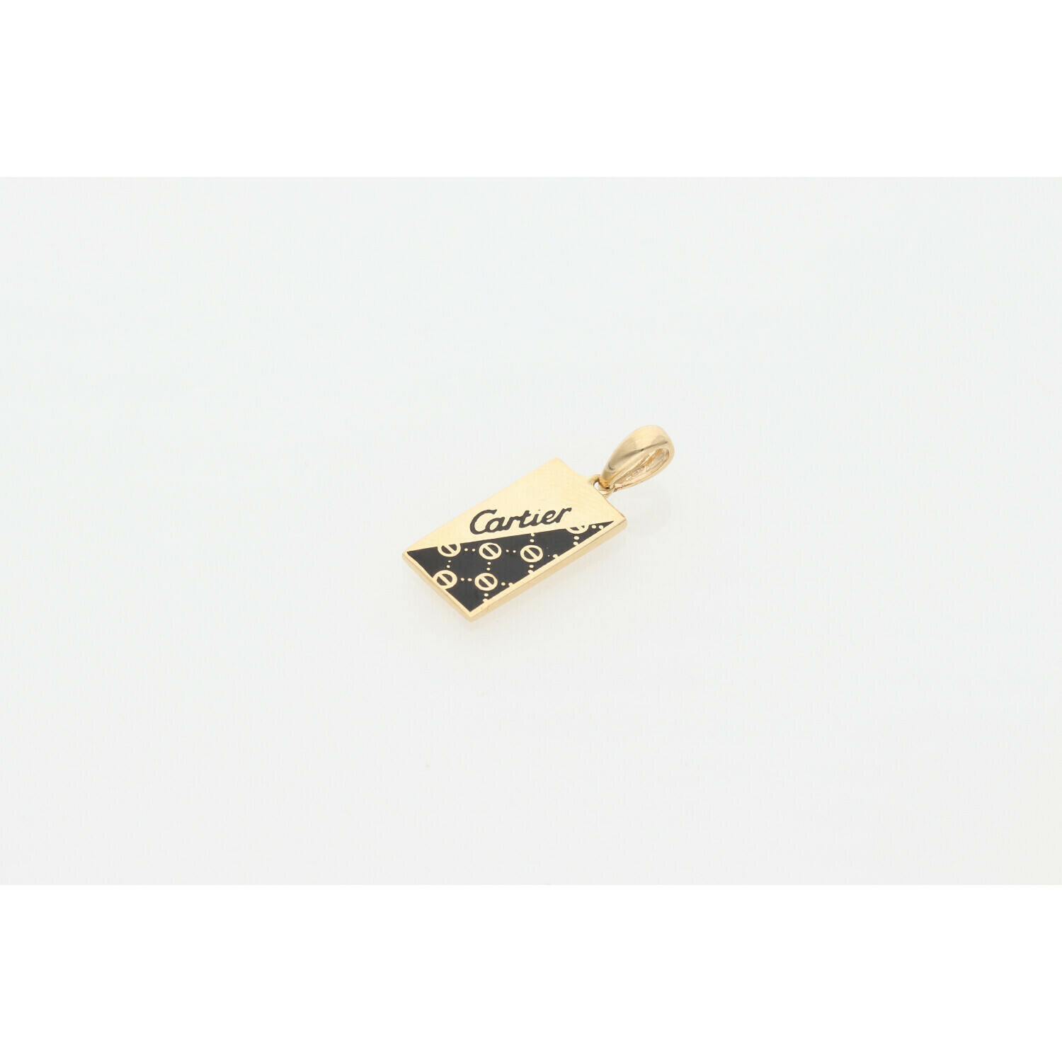 14 Karat Gold Black Onyx Fancy Charm