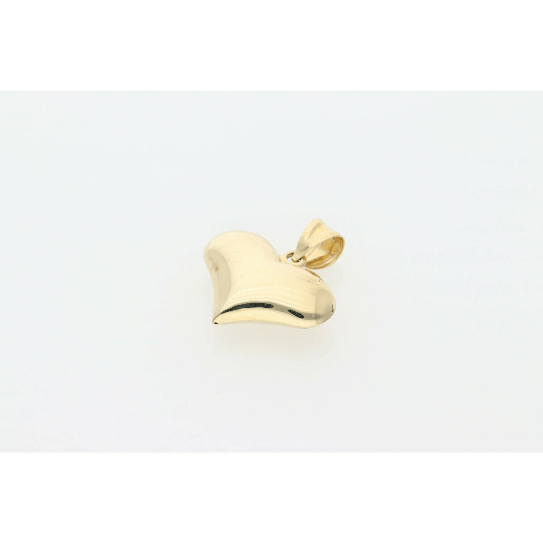 10 Karat Gold 3D Heart Charm