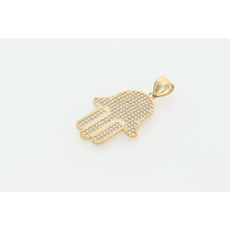 10 Karat Gold & Zirconium Hamsa Charm