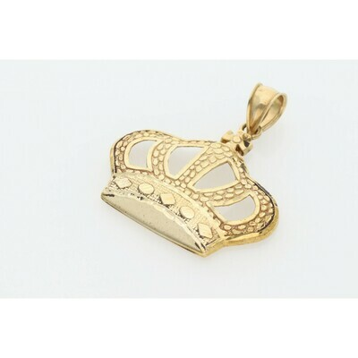 10 Karat Gold Nugget Crown Charm
