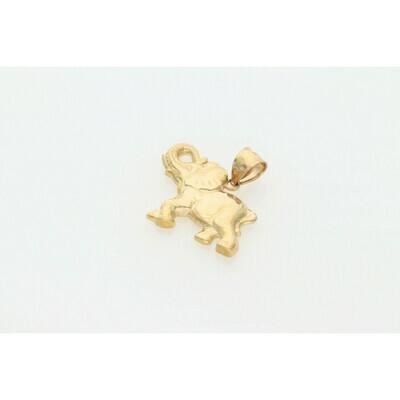 10 Karat Gold Elephant Charm