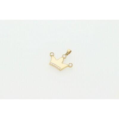 10 Karat Gold & Zirconium Crown Charm